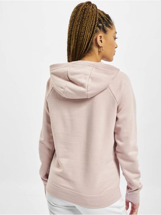 Nike Bluzy z kapturem Essntl Flc rózowy