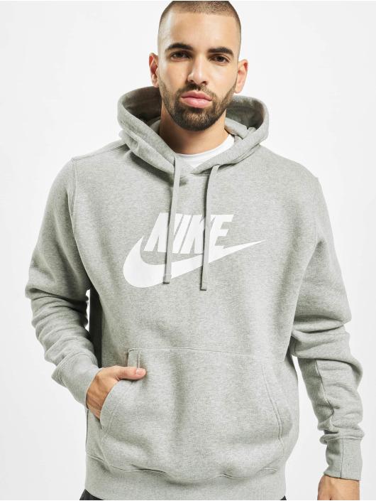 Nike Bluzy z kapturem Club Hoodie Dark szary