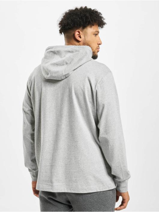 Nike Bluzy z kapturem Club szary