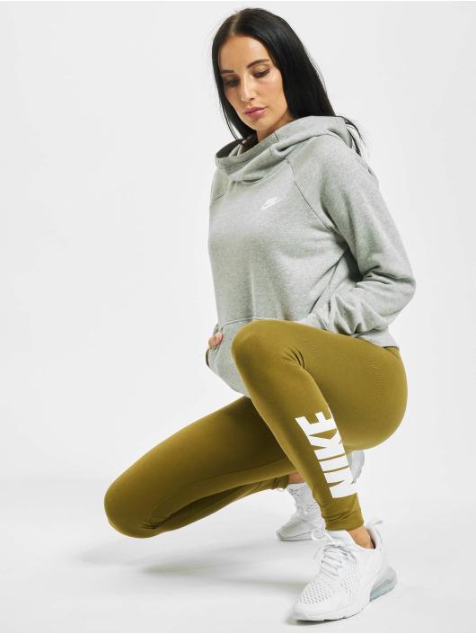 Nike Bluzy z kapturem Essential Fleece Longsleeve szary