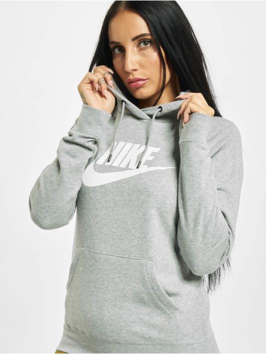 Nike Bluzy z kapturem Essential HBR szary