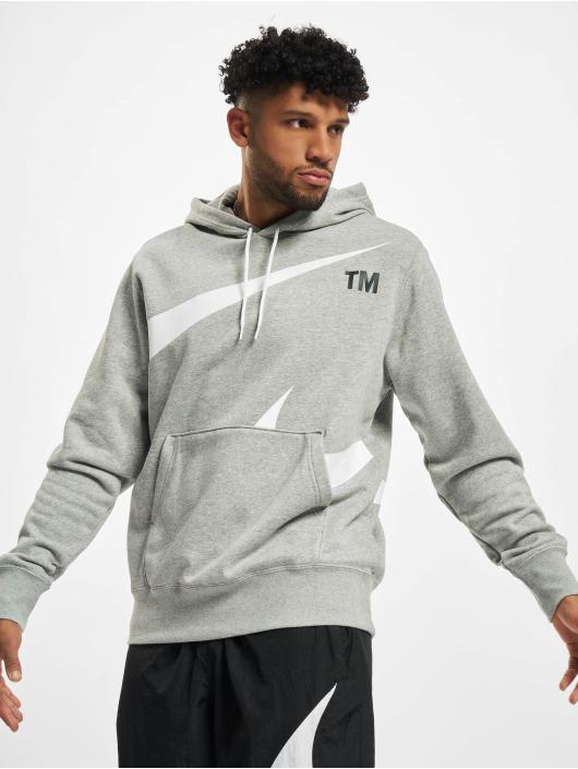 Nike Bluzy z kapturem Swoosh Po Sbb szary