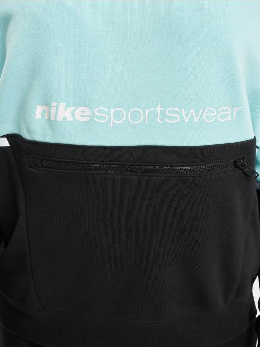 Nike Bluzy z kapturem FT Archive Remix turkusowy