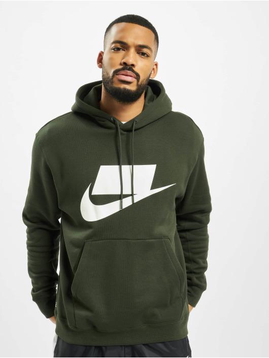 Nike Bluzy z kapturem PO zielony