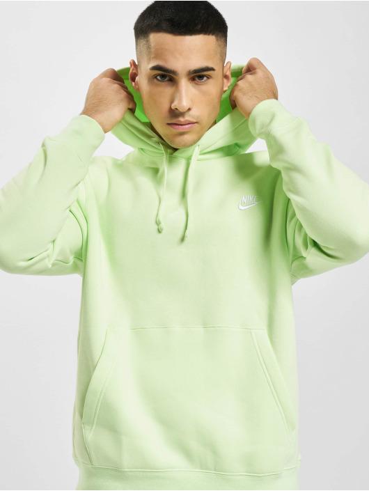 Nike Bluzy z kapturem Sportswear Club zielony