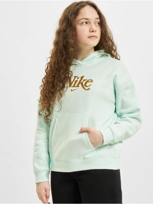 Nike Bluzy z kapturem Club Energy zielony