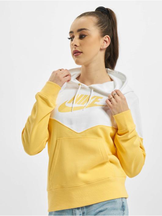 Nike Bluzy z kapturem Fleece Hoodie Topaz zloty