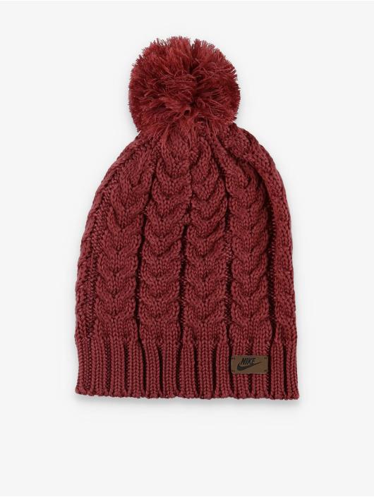 Nike Bonnet hiver Knit Pom brun