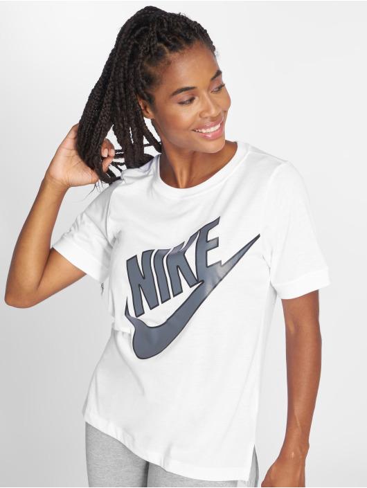 Nike Camiseta NSW Top SS Prep Futura blanco