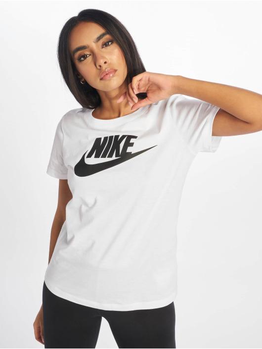 Nike Camiseta Essential Icon Futura blanco