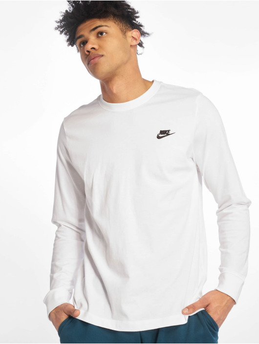 Nike Camiseta de manga larga Club LS blanco