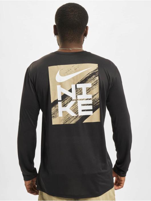 Nike Camiseta de manga larga Dri-Fit negro