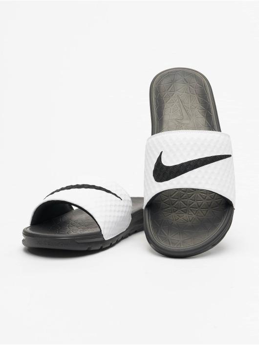 shades of better skate shoes Nike Benassi Solarsoft Sandals White/Black