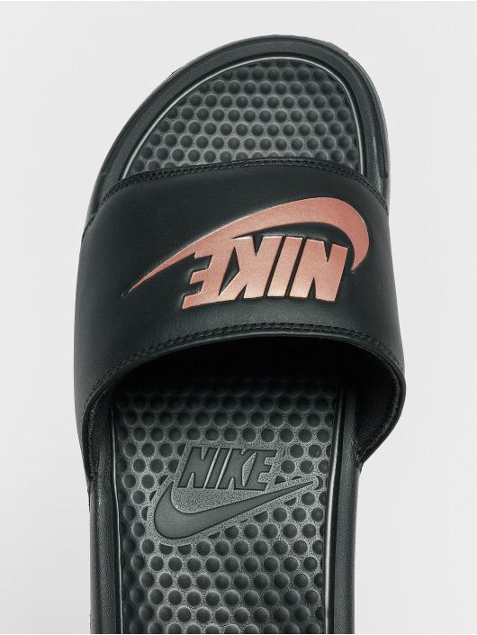 grand Prix courir chaussures classcic Nike Benassi JDI Sandals Black/Rose Golden