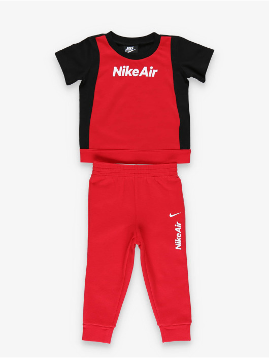 Nike Air SS Tee & Jogger Set BlackUniversity Red