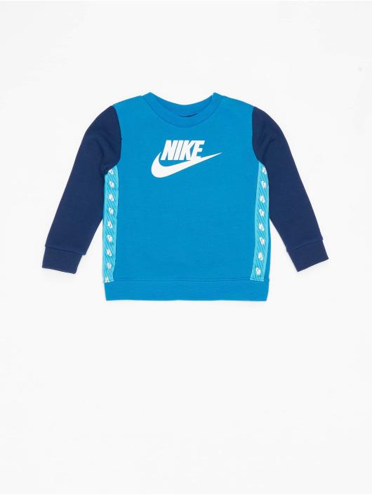Nike Dresy Elevated Trims Crew niebieski