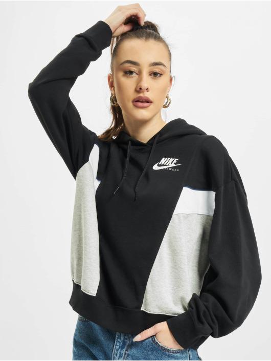Nike Felpa con cappuccio W Nsw Heritage Flc nero