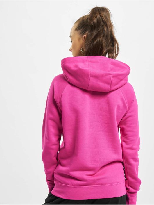 Nike Felpa con cappuccio W Nsw Essntl Flc Gx rosso