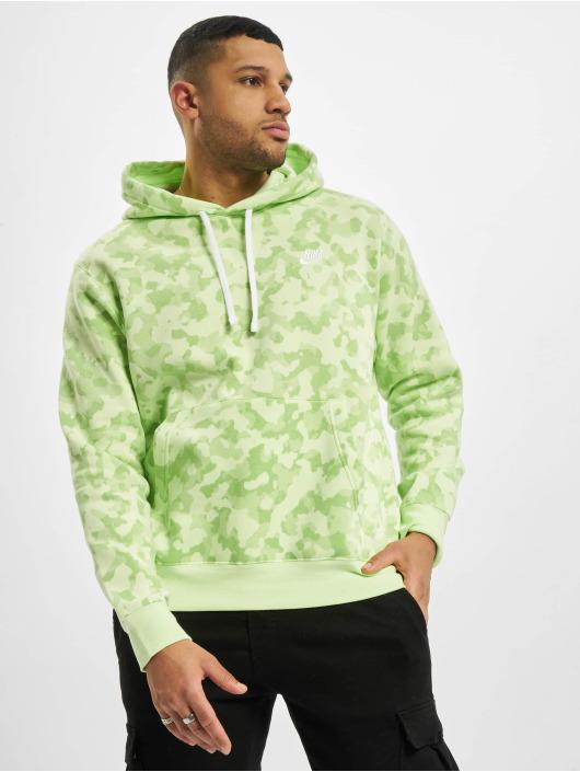 Nike Felpa con cappuccio M Nsw Club Bb Camo verde