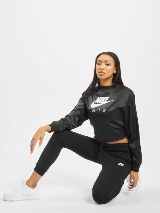 Nike Gensre Air Crew Satin svart