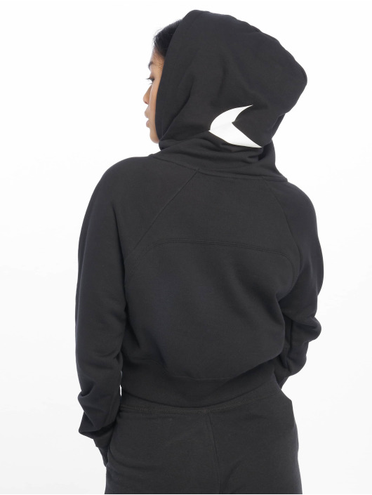 Nike Hettegensre Swoosh Cropped svart
