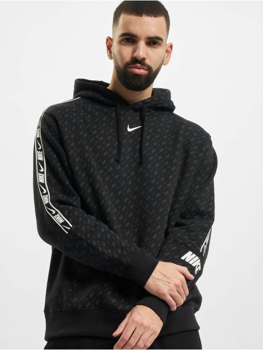 Nike Hoodie M Nsw Repeat Flc Po Prnt black
