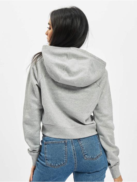 Nike Hoodie Essntl Crop grå