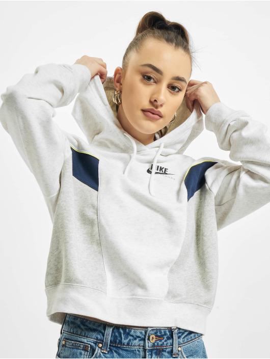 Nike Hoodies W Nsw Heritage grå
