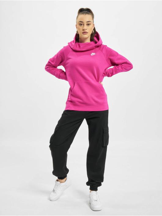 Nike Hoodies W Nsw Essntl Flc Fnl růžový