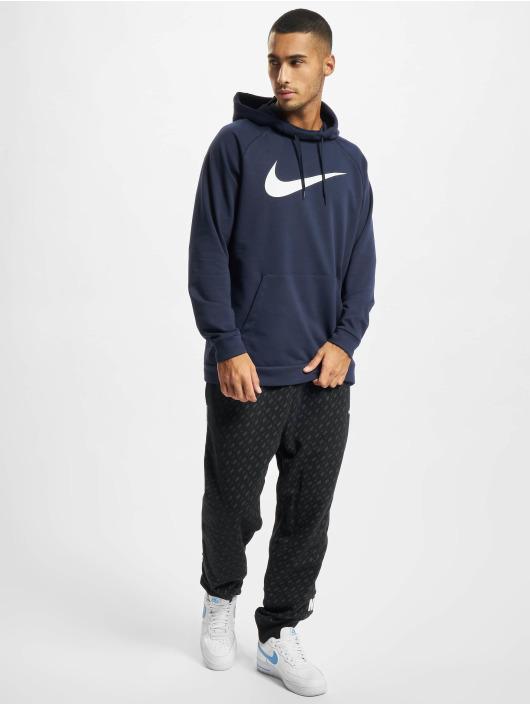 Nike Hoody Dri-Fit Swoosh blau