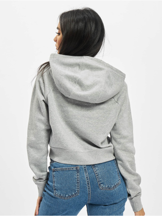 Nike Hoody Essntl Crop grijs