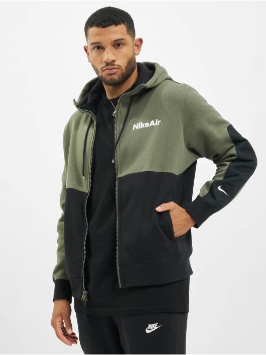 Nike Hoody Air Full Zip Fleece grün