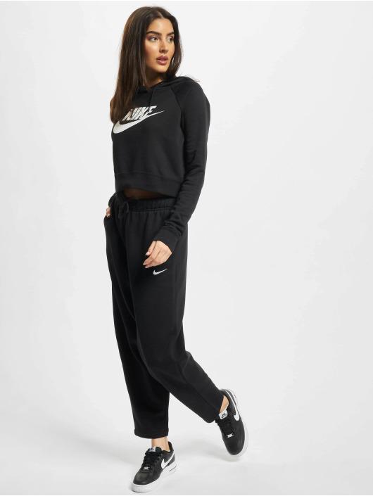Nike Hoody Essntl Crop schwarz