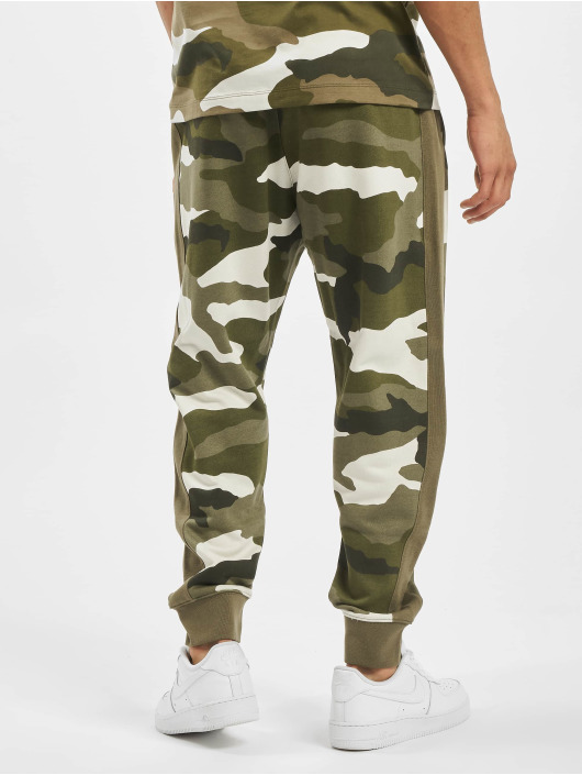 Nike Joggebukser Club FT Camo oliven