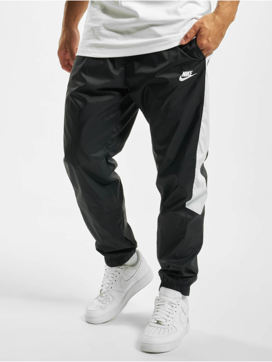 factory price on feet images of really cheap Nike Woven Core Track Sweat Pants Black/White