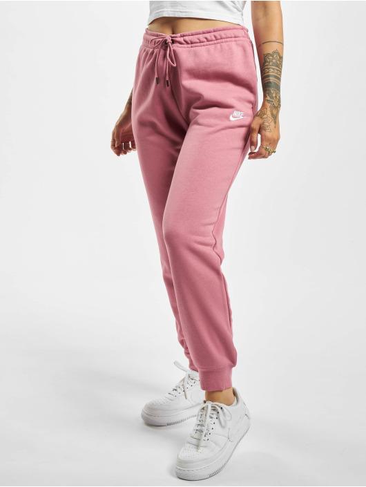 Nike Essential Regular Fleece Sweat Pants Desert BerryWhite