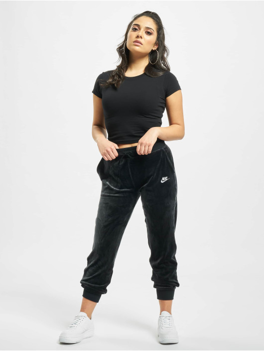 Nike Jogginghose Heritage Plush schwarz