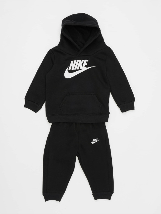 Nike Joggingsæt Nkb Club Flc Po Hoodie Pnt sort