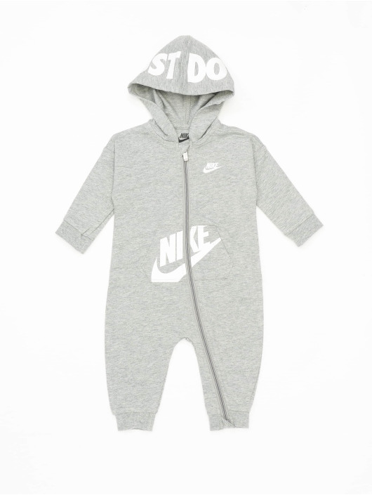 Nike jumpsuit Nkn Hooded Baby Ft Coverall grijs