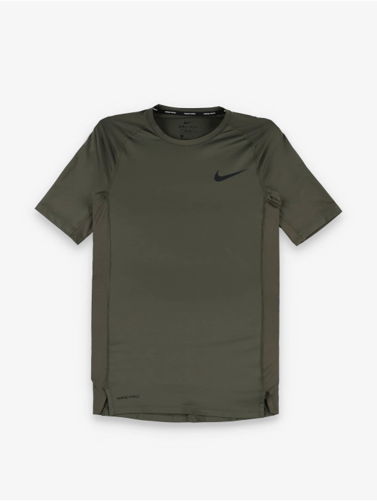 Nike Kompressionsshirt Pro Short Sleeve Tight kaki