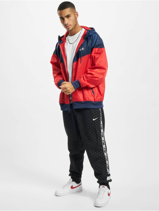 Nike Kurtki przejściowe Woven czerwony