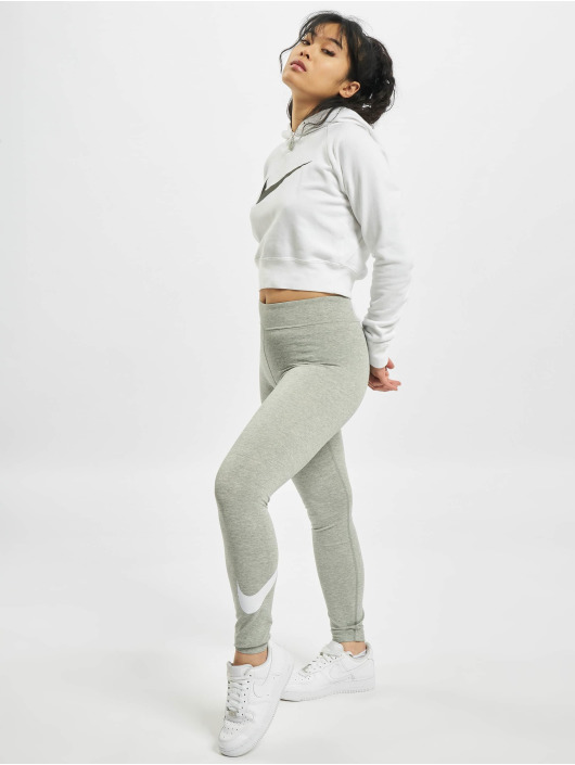 Nike Legíny/Tregíny Sportswear Essential GX MR Swoosh šedá