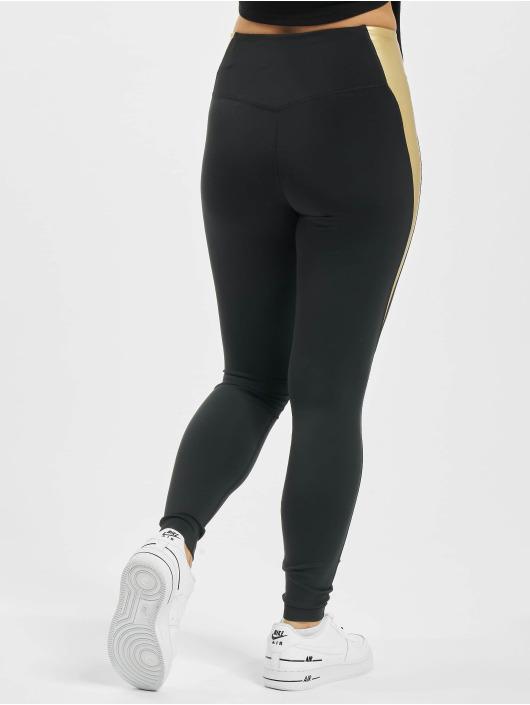 Nike Legging One Colorblock schwarz