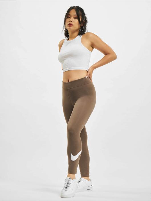 Nike Leggings/Treggings Swoosh brun