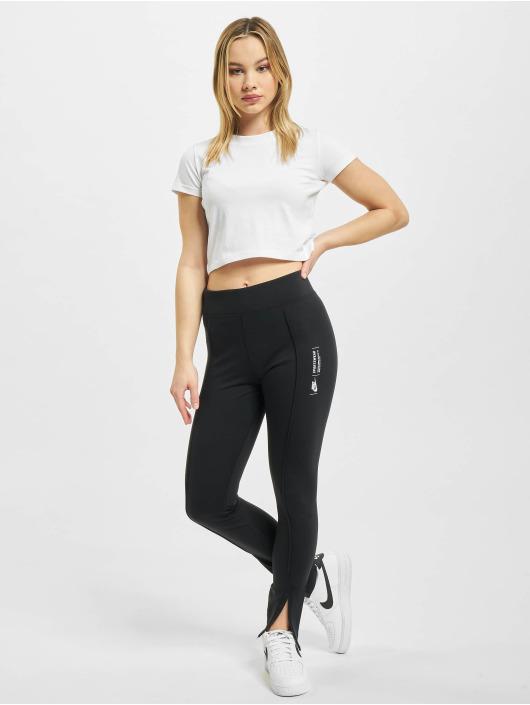 Nike Leggings/Treggings Legasee Zip czarny