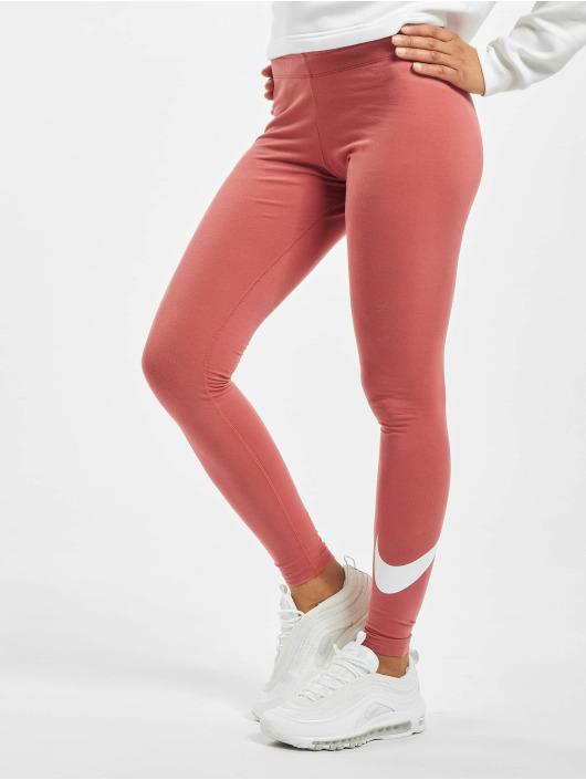 Nike Leggings/Treggings Club Logo 2 czerwony