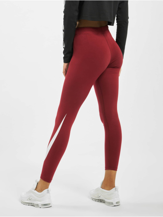 Nike Leggings/Treggings Swoosh czerwony