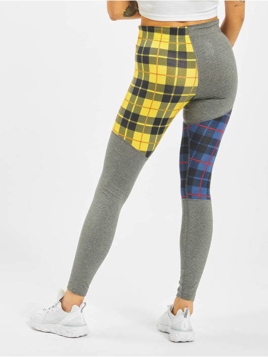 Nike Leggings/Treggings Plaid grå