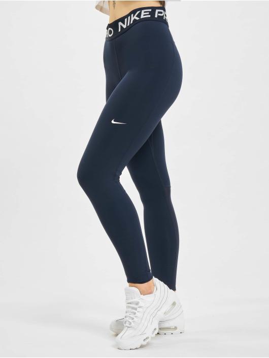 Nike Leggings/Treggings Tight Fit niebieski