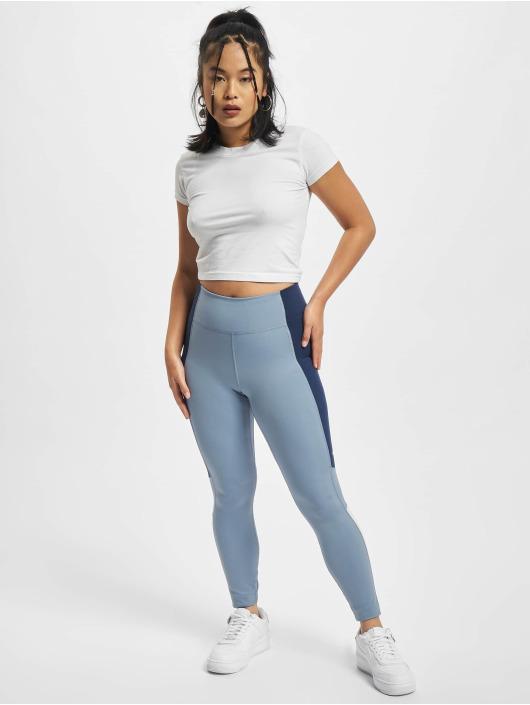 Nike Leggings/Treggings One 7/8 niebieski